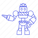 robot, construction, hard, ai, factory, hat, driller icon