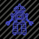 fashioned, robot, toy, vintage, old, retro icon
