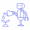 2, ai, ecological, grow, plant, robot, watering icon