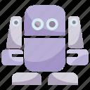 cute, cyborg, humanoid, robot, android, cartoon, mascot