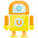 android, cartoon, cute, cyborg, humanoid, mascot, robot icon