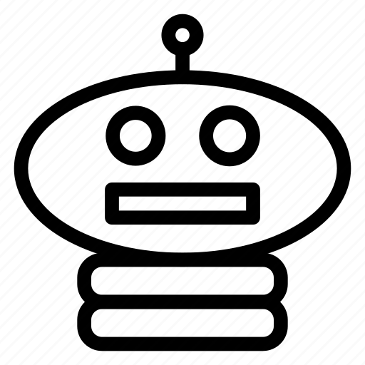 head, machine, programming, robot icon