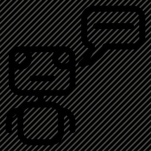 comment, machine, message, robot icon