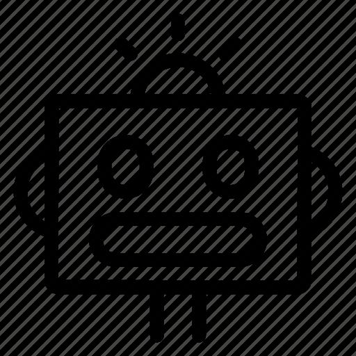 head, machine, robot, science icon