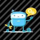 robot, support, repair, service, failure