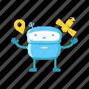 robot, gps, error, location, pin, map