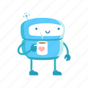 robot, coffee, break, pause, relaxation