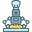 robot, cook, cooking, technology, assistant