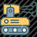 fire, fighter, robot, technology
