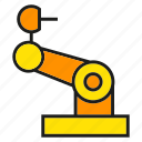 arm, engineering, manufacturing, mechanical, production, robot, robotics icon