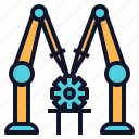 assembly, engineering, machine, robot, robotics icon