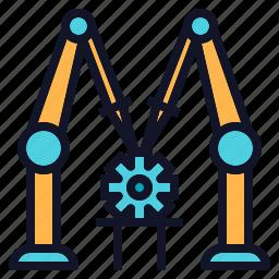 assembly, engineering, machine, robot, robotics icon