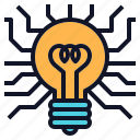 bulb, concept, creative, idea, light, technology icon