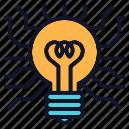 bulb, concept, creative, idea, light, technology icon