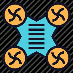 camera, drone, quadcopter, robot, technology icon