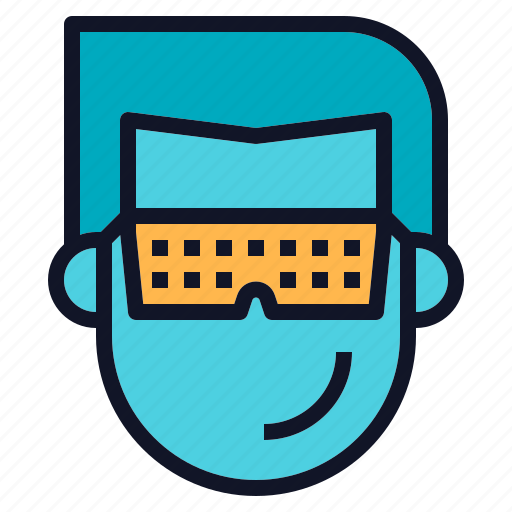 eyeglasses, glasses, reality, technology, virtual, vr icon