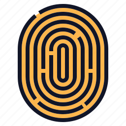 biometric, fingerprint, id, identity, scan, security icon