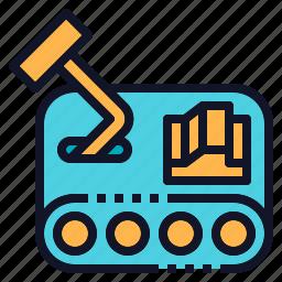 car, fighter, mini, robot, robotics icon