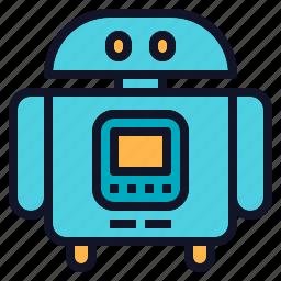 assistant, cute, robot, robotics, technology icon