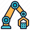 arm, grab, machine, mechanical, robotic icon