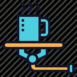 assistant, coffee, help, robotic, serve icon