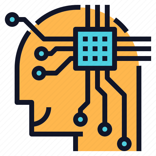 chip, computer, human, mind, smart, technology icon