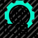 engineering, hand, maintenance, robotic, setting, setup, technology icon