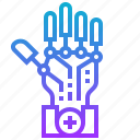 artificial, engineering, hand, intelligence, robotic, technology icon