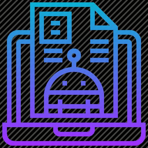 computer, engineering, laptop, robot, robotic, technology icon