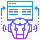 artificial, control, engineering, intelligence, programming, robotic, website icon