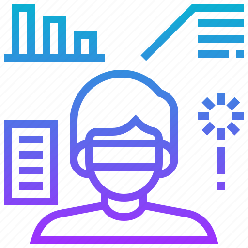 analysis, data, engineering, man, robotic, simulation icon