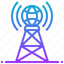 antenna, communication, engineering, robotic, technology, wireless icon