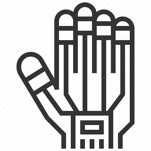 artificial, engineering, fingers, gesture, hand, robotic, technology icon