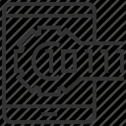 binary, code, design, development, engineering, robotic, technology icon
