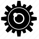 eye, gear, part, robot icon