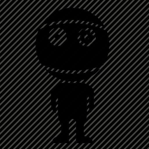 boy, human, robot, skin, smile, sphere icon