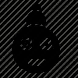 eye, face, robot, skin, smile, sphere icon