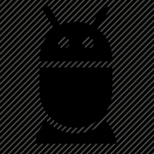 eye, human, robot, stand icon