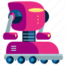cyborg, machine, robot, robotic, rolling, technology icon