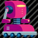 robot, rolling, cyborg, machine, robotic, technology
