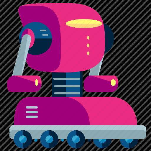 cyborg, machine, robot, robotic, rolling, technology icon