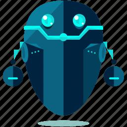 cyborg, device, floating, robot, robotic, technology icon
