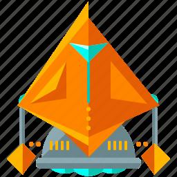 cyborg, device, robot, robotic, spiky, technology icon
