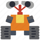 droid, mechanical, robots, wall e icon