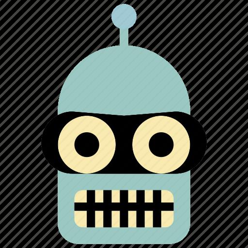 bender, droid, futurama, mech, robot, robots icon