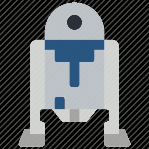 droid, r2d2, robots, star wars icon