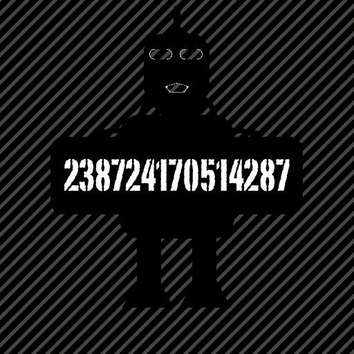 code, display, displaybot, numbers, robot icon