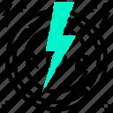 bolt, electric, light, music, star icon
