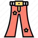 clothing, costume, jeans, pants, trousers icon
