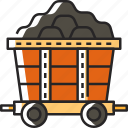 cart, mine cart, mining cart, mining, mine chariot, coal mine trolley, gold mine